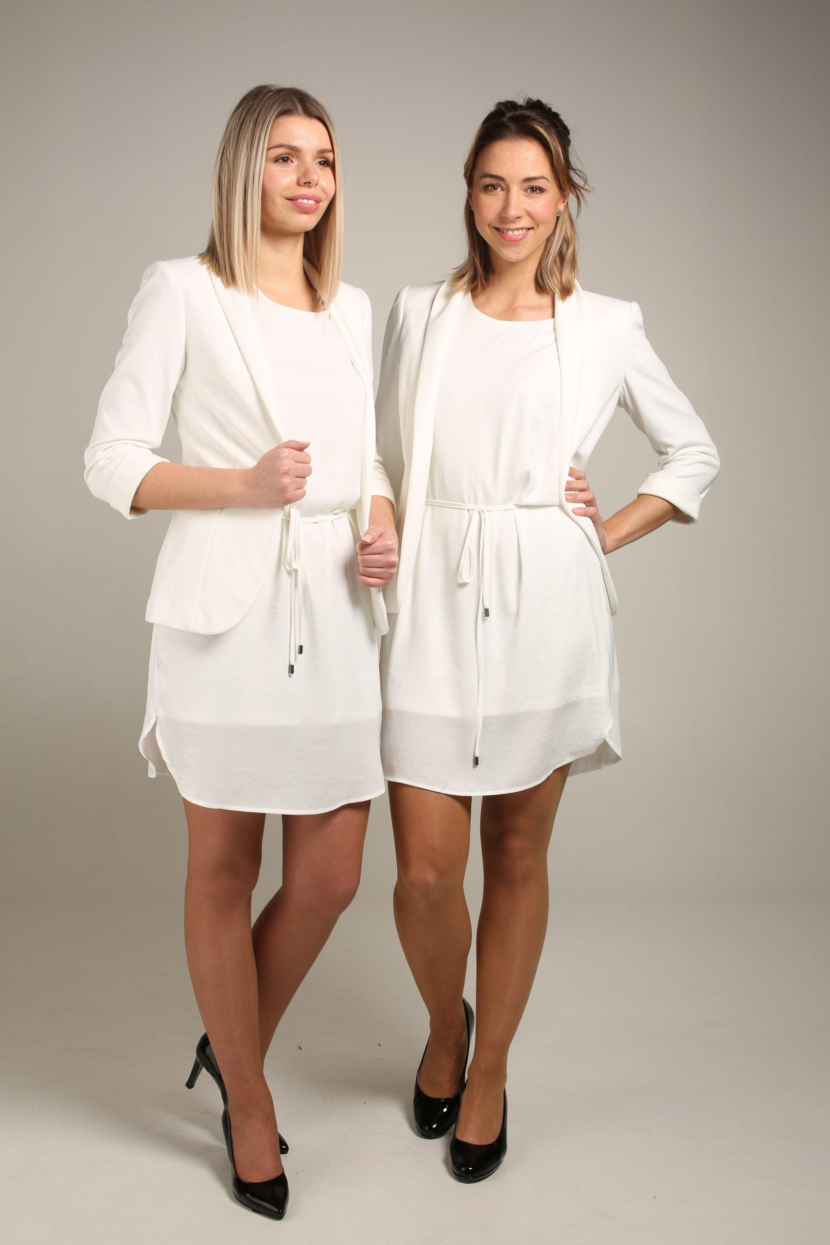 Wit kleedje & Witte blazer