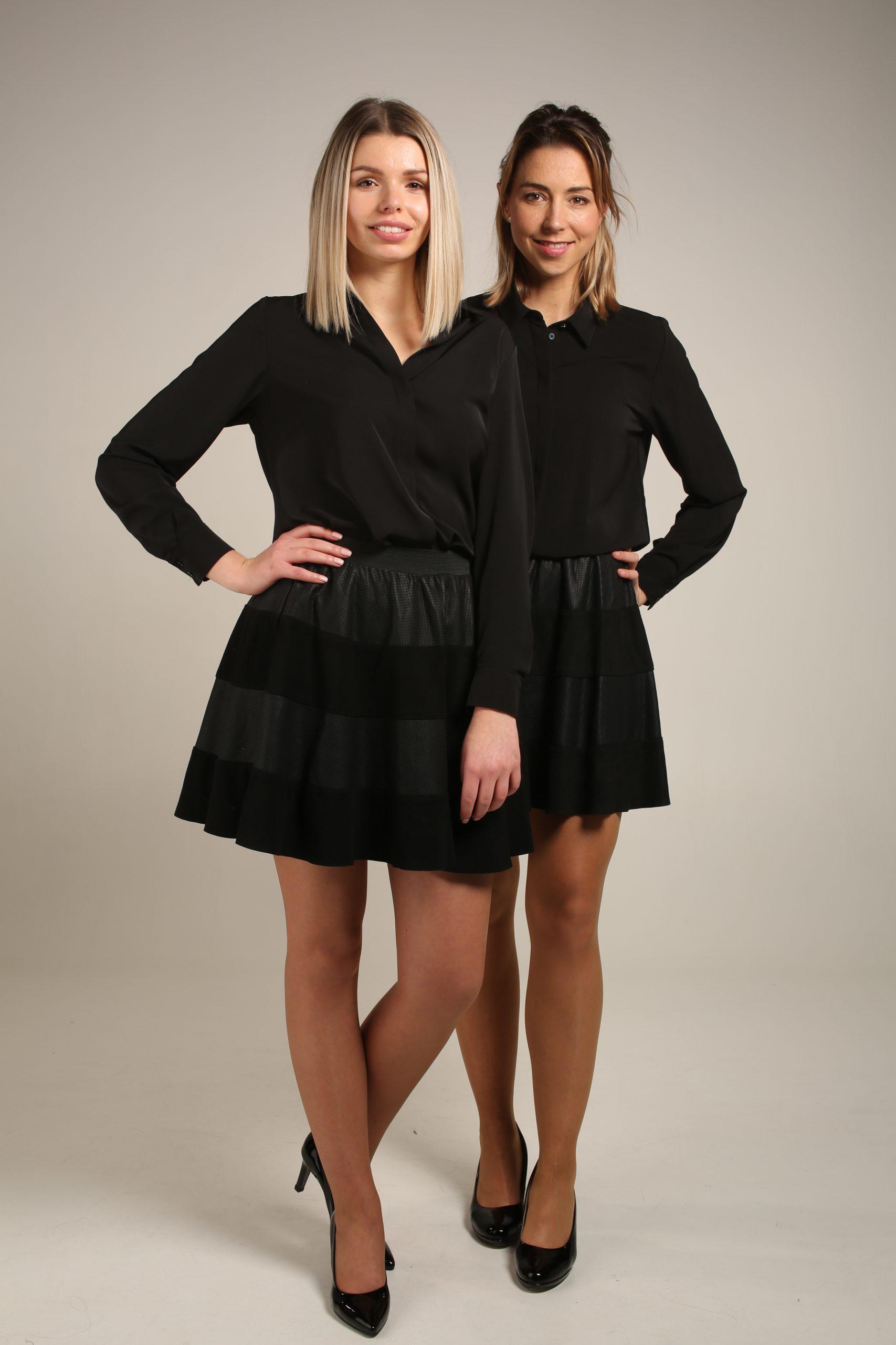 Zwarte rok & Zwarte blouse