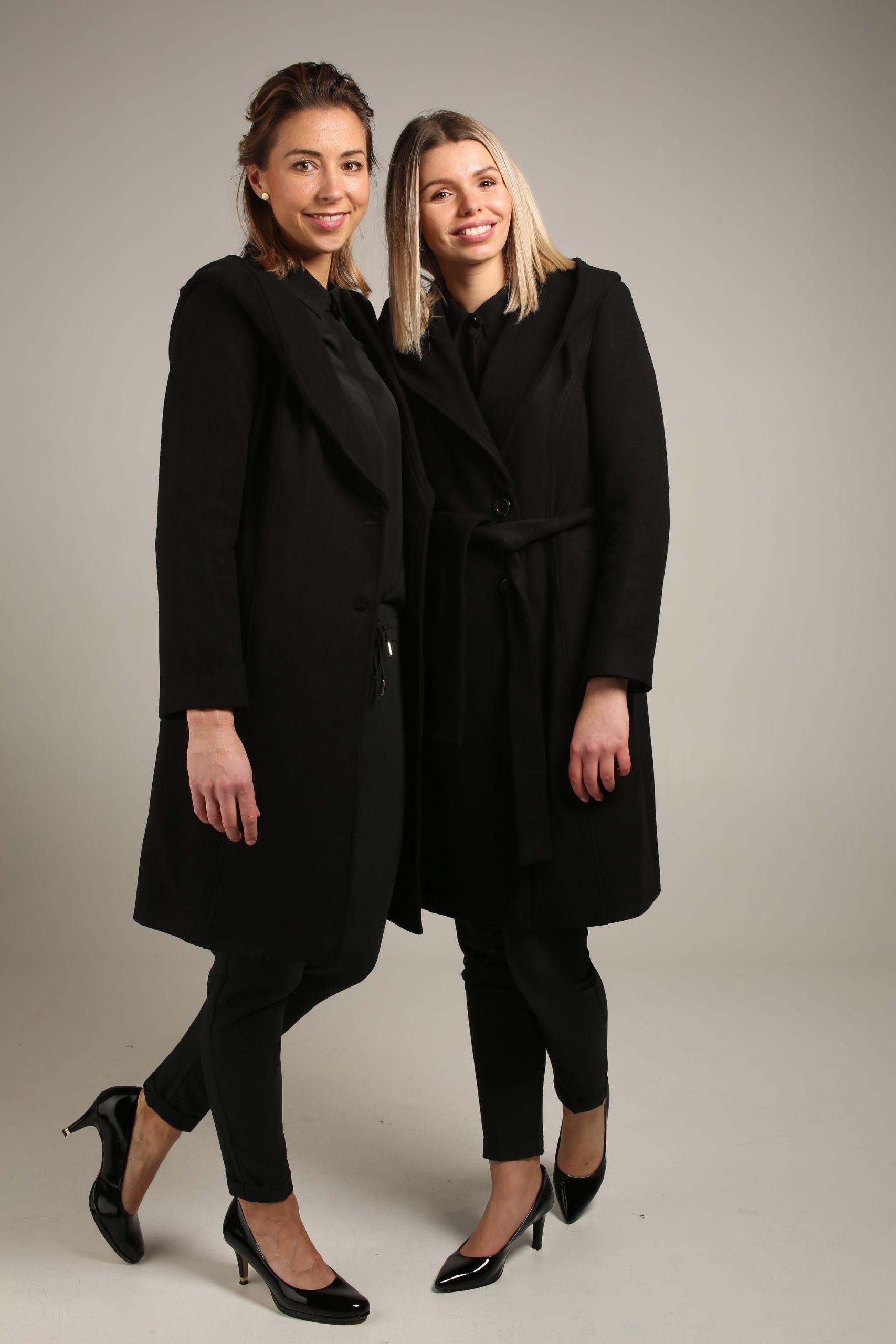 Zwarte winterjas